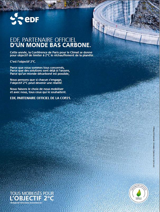 Greenwashing : la campagne de publicité EDF sanctionnée