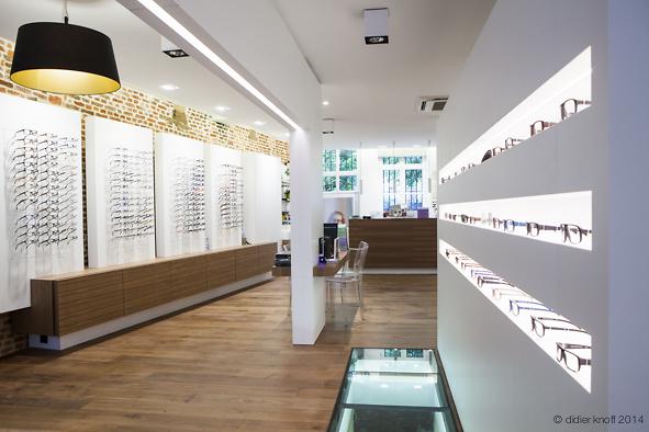 Théo Vynckier - Vue intérieure magasin optique