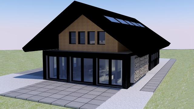 Théo Vynckier - Projet en image de synthèse d'une maison en bois
