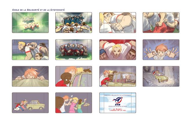 Achile - Storyboard publicitaire FFR