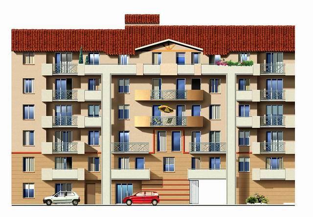 Rendu non r aliste d 39 une fa ade d 39 immeuble de active for Ecole de dessin bayonne