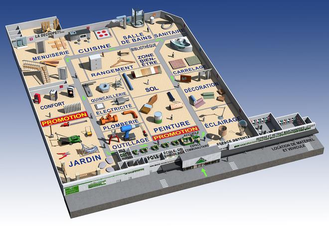 Magasin Annecy De Alain Baras Illustrateur Publicite Illustration 3d Images De Synthese Architecture Illustration Immobiliere Ecorche Dessin De Coupe Pictogramme