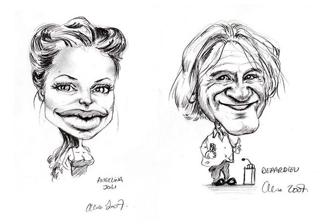 Célèbre Galerie Caricatures - Portraits de Alice Laverty - Illustrateur  XG72