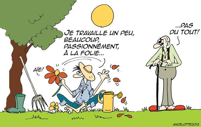 M tier jardinier et printemps de ancelotte - Dessin jardinier humoristique ...