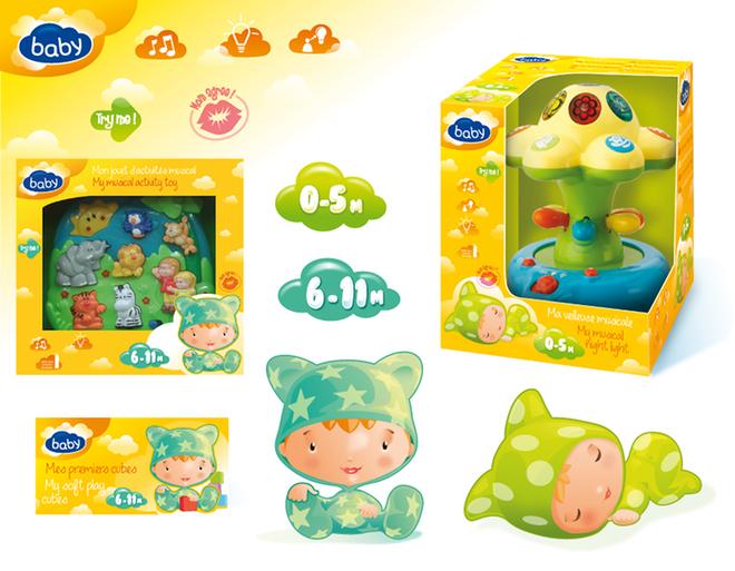 Christian-Jacques Attagnant - Création de charte graphique pour gamme de packaging de jouet premier âge