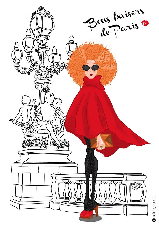 Parisienne qui prend la pause de claire gosnon - Dessin parisienne ...