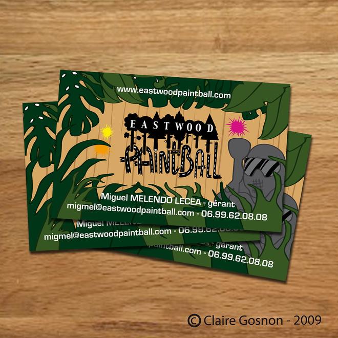 Carte De Visite Parc Paintball Claire Gosnon