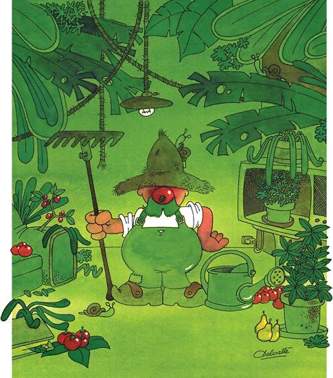 Le jardinier carte postale de communication bd - Dessin jardinier humoristique ...
