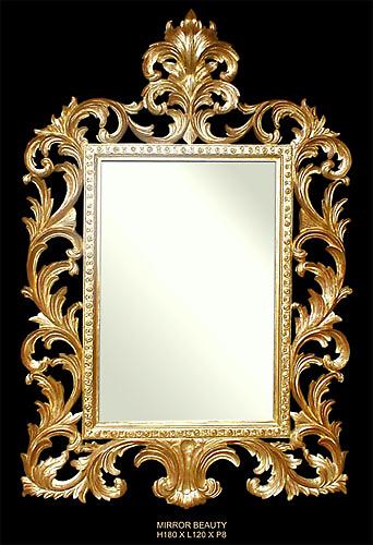 126 events - Location miroir baroque sculpté doré