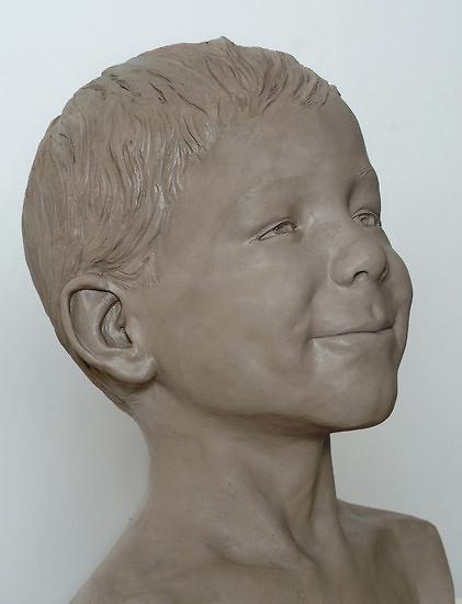 Sehr Portrait en sculpture d'un enfant de Laurent Mallamaci - Artiste  UZ91