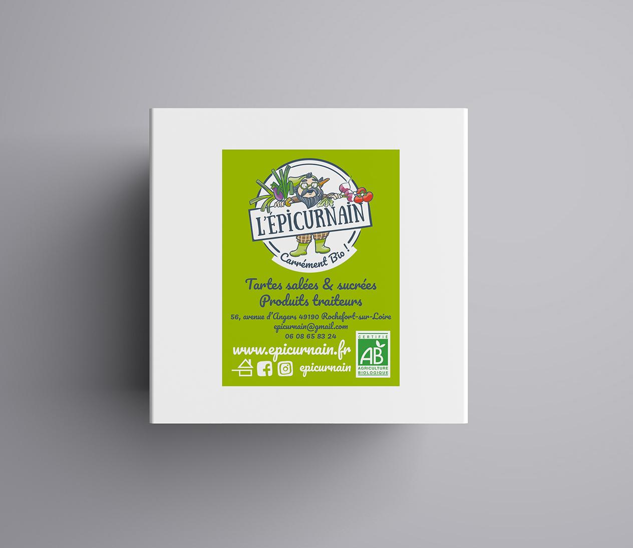 Magali AC graphisme - Étiquette produit traiteur charte graphiste Angers