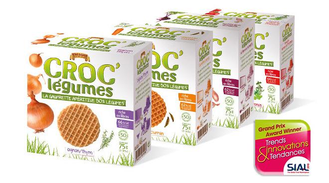 Serenad - Emballage primé pour gaufrettes apéritives ou à grignoter.