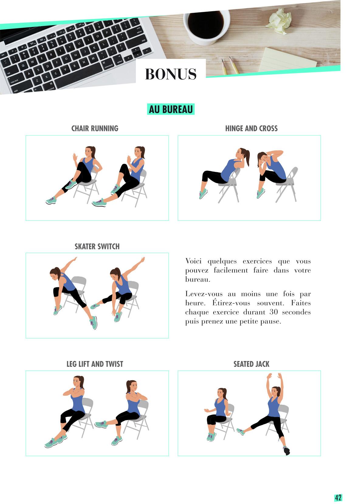Claire Gosnon - réalisation de schémas de gym pour Les Eclaireuses