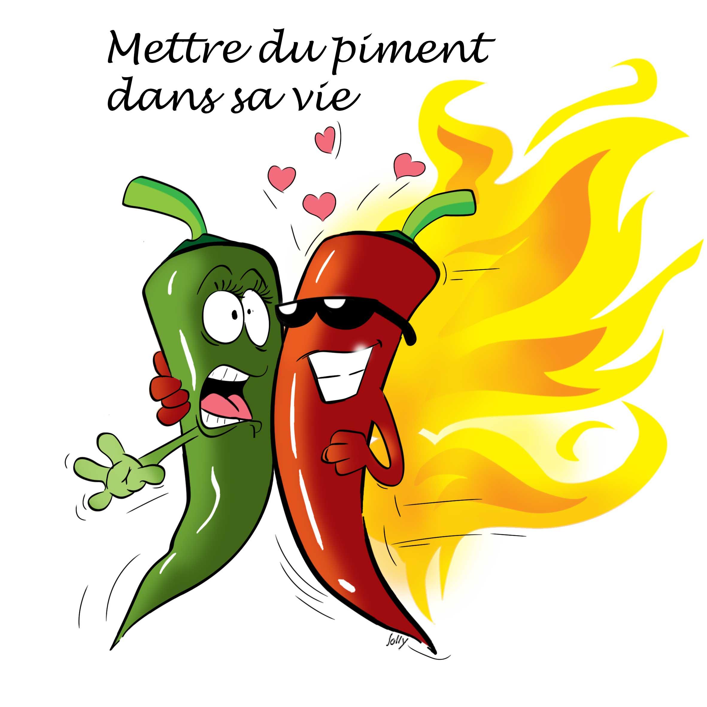 Mettre du piment dans sa vie de jolimage illustrateur - Dessin piment ...