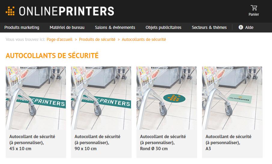 Onlineprinters - Autocollants sécurité