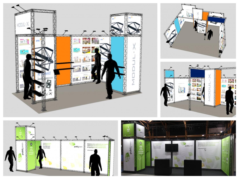 Pixis.be - Stands modulaires Modul-X - Concept et 3D